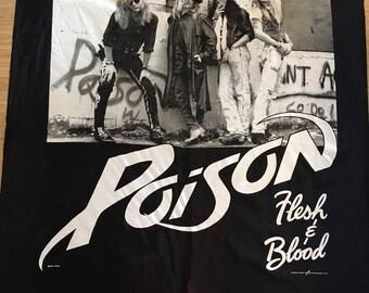 Vintage 1990 Poison Tapestry