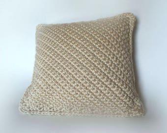 Soft Crochet Pillow/LA Tan