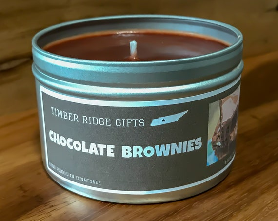 Chocolate Brownies Scented Soy Candle, Chocolate Scented, Chocolate Candle, Chocolate Lover, Chocolate Lover Gift, Chocolate Gift