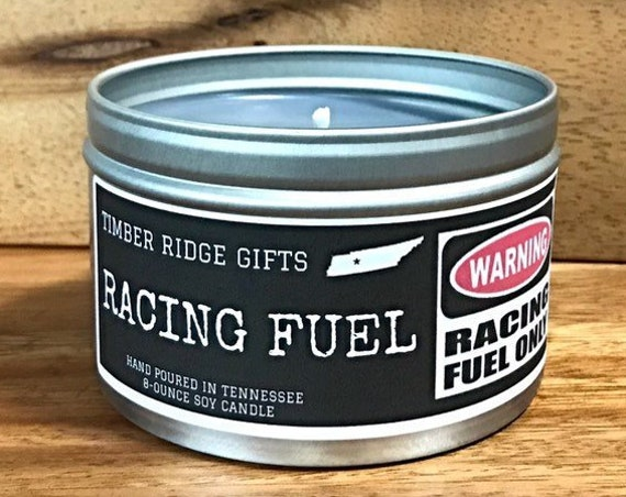Car Gifts, Racecar, NASCAR, Gift For Men, Gray Candle, Soy Candle, Manly Gift, Man Cave, Novelty Gift, Funny Gift, Unique Gift, 4 oz candle
