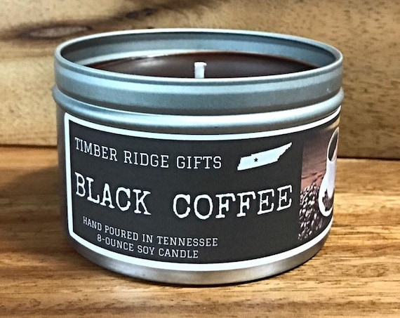 Black Coffee - Coffee Candle - Coffee Scent Candle - Coffee Soy Candle - Scented Candle - Soy Candle - Scented Soy Candles