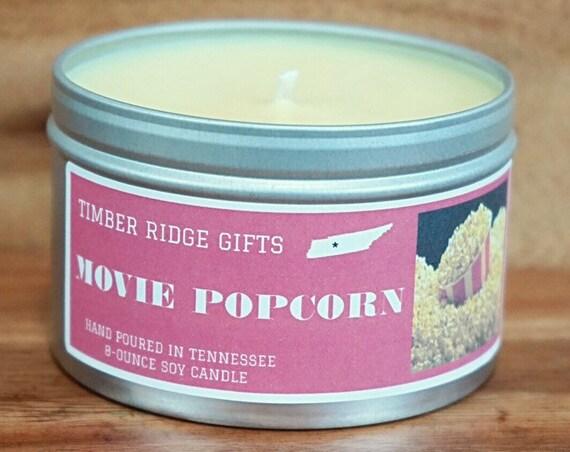 Popcorn Gift - Popcorn Candle - Popcorn Lover - Popcorn Lover Gift - Scented Candles - Soy Candle - Candle Gift - Scented Candle Gift