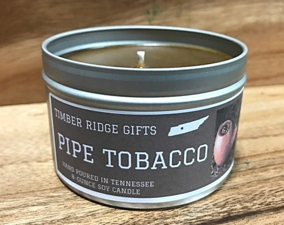 Tobacco Scented Soy Candle, Tobacco Scented Candle, Tobacco Candle, Tobacco Scent, Scented Candle, Pipe Tobacco Candle, Man Candle