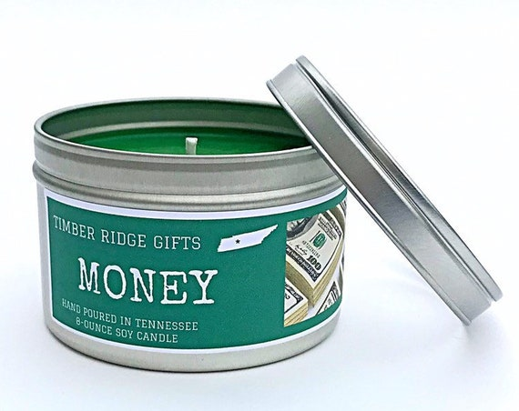 Money Gifts - Money Candle - Gifts For Men - Candle Gift - Money Scented Candle - Candles For Men - Money Gift Ideas - Scented Candles