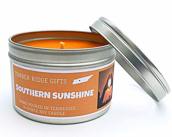 Orange Candle, Orange Scented, Scented Candle, Citrus Candle, Container Candle, 8 Ounce Soy Candle, Scented Soy Candles, Soy Candle