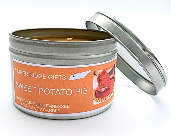 Sweet Potato Pie Candle, Sweet Potato Pie, Sweetpotato, Food Scented Candle, Food Candles, Food Gift, Candle Gift, Scented Candle
