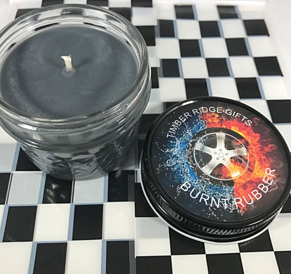 NASCAR, Car Gifts, Racecar, 4 oz Candle, Novelty Gift, Funny Gift, Unique Gift, Manly Gift, Man Cave, Gift For Men, Soy candle, Black Candle