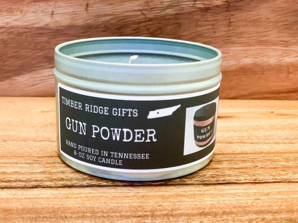 Gun - Gun Gifts - Gunpowder - Soy Candles Handmade - Novelty Gift
