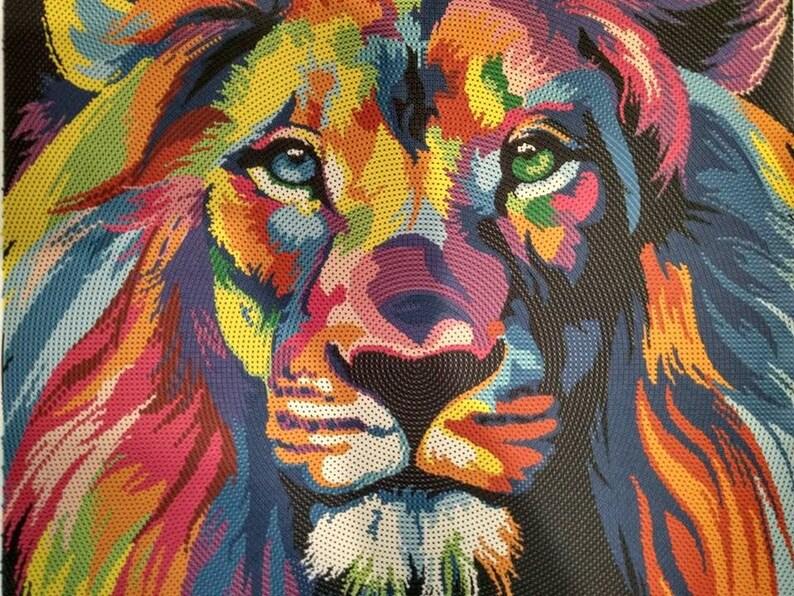 11a4e017e46e Bead embroidery kit Rainbow Animals Wolf Elephant Dog