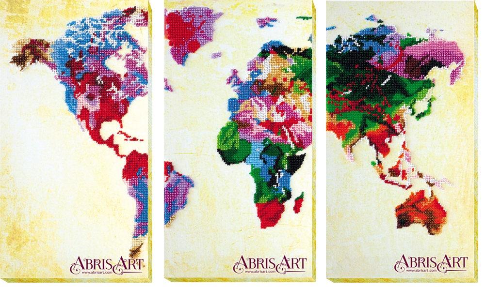 Perle Perle Perle de kit de broderie, kit de broderie carte du monde, la taille 54 x 34 cm, kit de bricolage, dessins de broderie moderne, broderie, cadeau pour elle, kit de billes à la main c7bf53