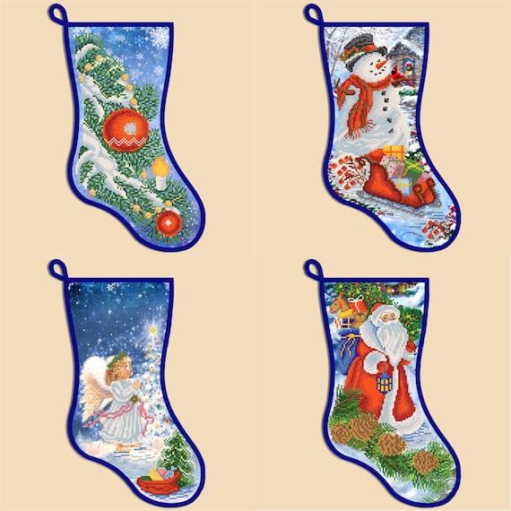 Needlepoint Christmas Stocking Kits.Needlepoint Christmas Stockings Bead Embroidery Kits Embroidery Christmas Stocking Kits Modern Embroidery New Year Gifts Needlepoint