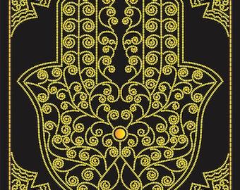 Bead embroidery kit, Hamsa hand (Khamsa), Hand of Miriam, Hand of Fatima, needlepoint kit, 27х36 cm, protective symbol