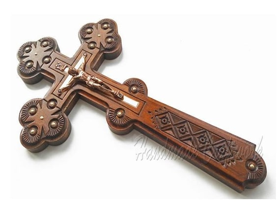 Unique Handmade Carved Wooden Wall Cross Crucifix With Jesus Etsy