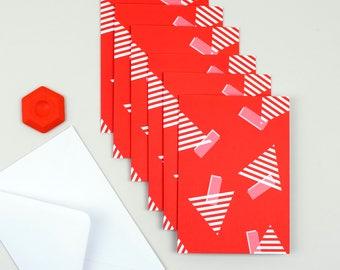 Christmas card pack - Christmas card - Christmas cards - Christmas tree print 6 pack