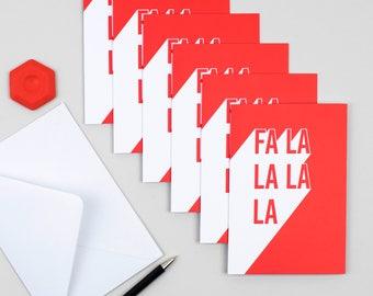 Christmas card pack - Christmas card - Christmas cards - Fa la la la la