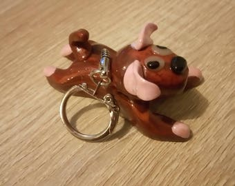 DOG Keychain / DOG in Brown