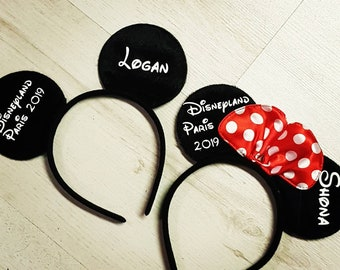 614e55c2d53 Personalised Ears - Minnie Mouse - Mickey Mouse - Disney Ears