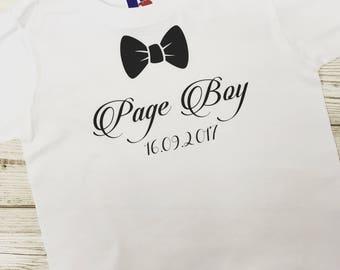 Personalised Ring Bearer T-Shirt, Page Boy, Wedding, Bride