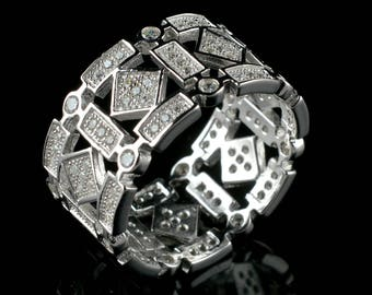Natural Zircon Round Gemstone Ring 925 Sterling Silver R568