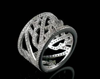 Natural Zircon Round Gemstone Ring 925 Sterling Silver R559