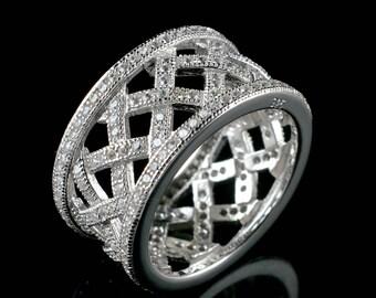 Natural Zircon Round Gemstone Ring 925 Sterling Silver R879
