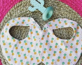 bavoirs lot de 2 coton ananas naissance