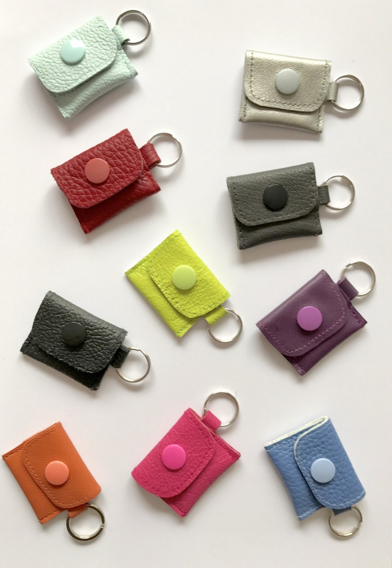 Mini leather wallet in Wishful Colour