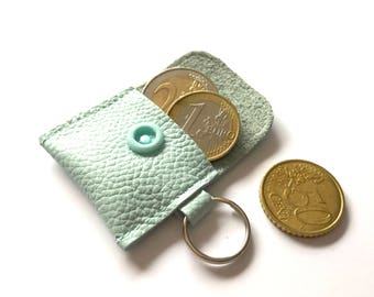 Mini wallet in leather in desired colour