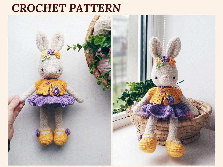 Crochet Bunny Pattern Easter Bunny April Crochet Rabbit Etsy