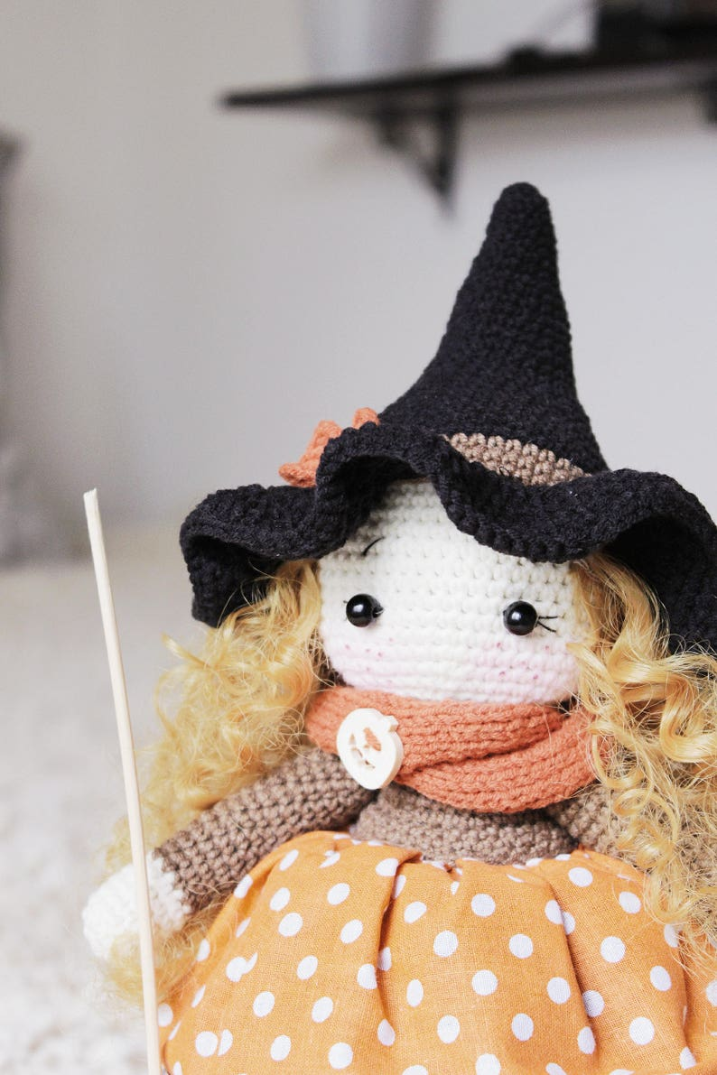 Halloween witch hat crochet pattern pdf Halloween amigurumi | Etsy | 1191x794