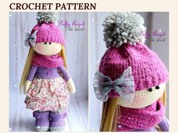 Crochet Doll Pattern Amigurumi Crochet Doll Tilda Doll Etsy