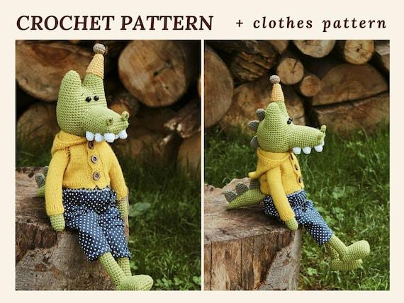Amigurumi Crochet Crocodile Pattern Crocodile Simon Zoo Animal Etsy