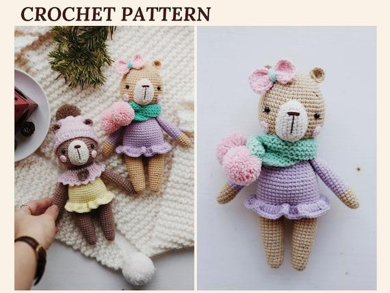 Crochet Bear Pattern Amigurumi Bear Mia Teddy Bear Pattern Etsy