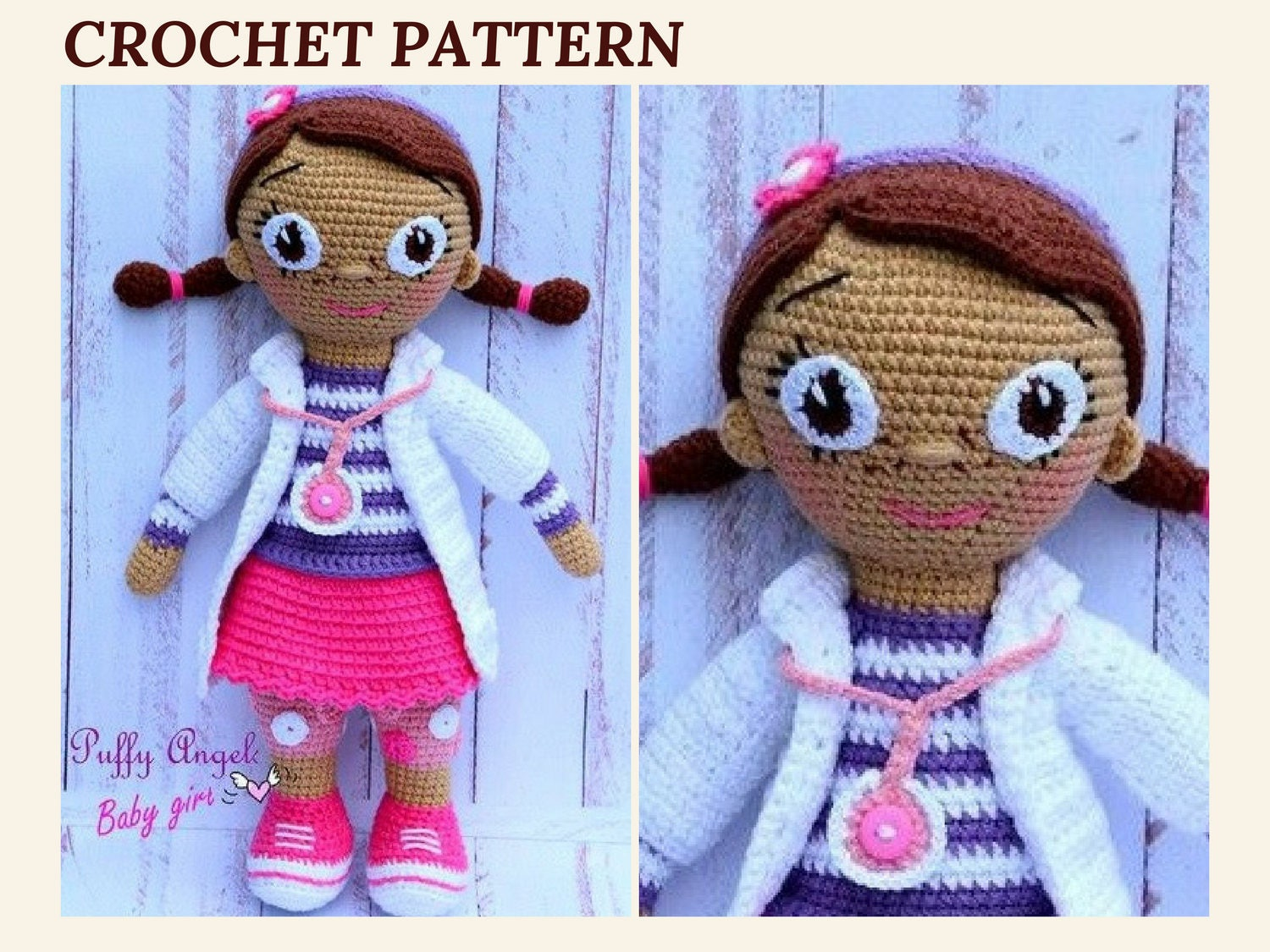 Crochet Doll Pattern Unique Decoration