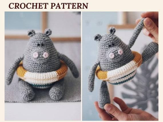 10 Cute Hippo Amigurumi Crochet Patterns Free and Paid | Crochet ... | 428x570