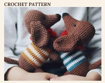 Crochet Dachshung Dog Pattern Amigurumi Dog Pattern Puppy Crochet Dog