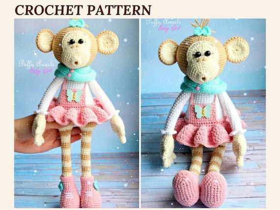 Pattern Monkey Bonnie Crochet Toys Amigurumi Monkey Animal Etsy