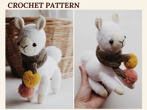Alpaca Crochet Pattern Llama Amigurumi Pattern Cuddle Toy