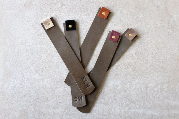 Bookmarks *personalizable* Bookmark Elephant genuine leather