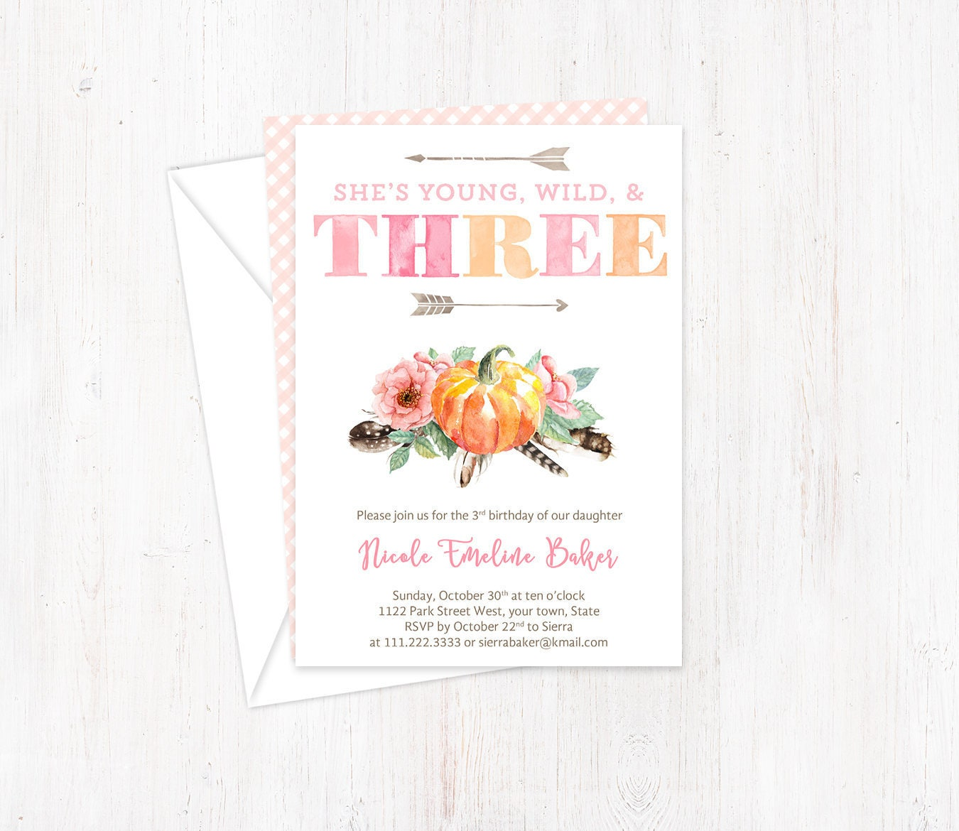 3rd birthday invites for girl young wild and three third etsy zoom filmwisefo