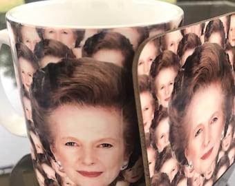 Margaret Thatcher - mug and coaster gift set