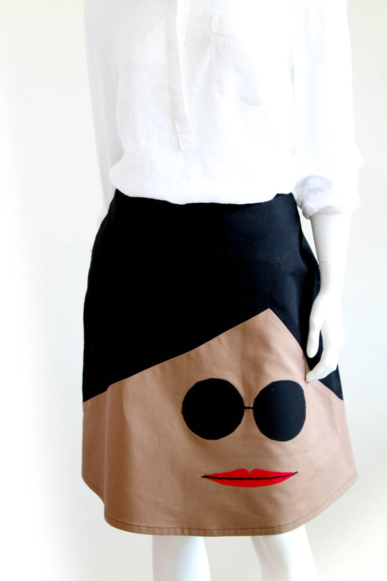 DIY Skirt Pattern, Instant Download, Women fashion, Knee lenght applique  A-line midi skirt, DIY Statment work clothes, fun skirt make, easy