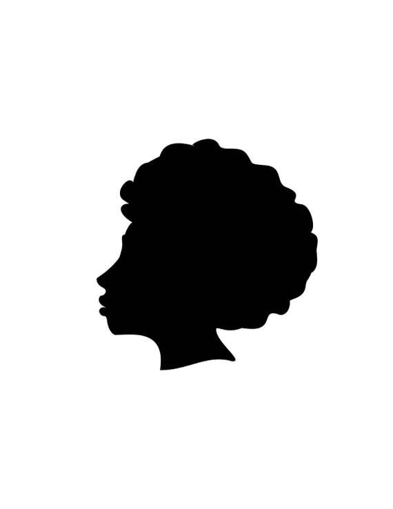 afro silhouette svg clip art afro natural hair png files rh etsy com natural hair woman clipart