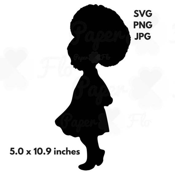 Swell Little Girl Afro Svg Girl Afro Puff Svg Black Princess Clip Etsy Natural Hairstyles Runnerswayorg