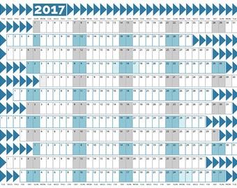 2017 Wall Planner Printable