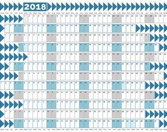 2018 Wall Planner Printable
