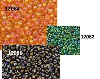 Perlen Glasperlen Rocailles Saatperlen Indianerperlen basteln orange 20gr 1,8mm