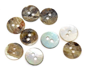 200buttons, button, buttons, mother-of-pearl, mother-of-pearl buttons, 11 mm, 10477