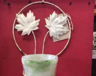Akro Agate Pot in original hanger