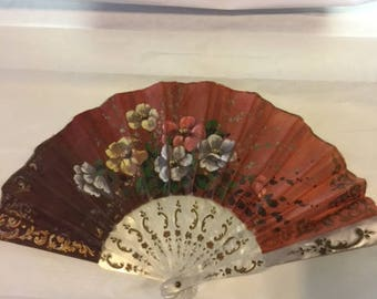 Handpainted hand fan